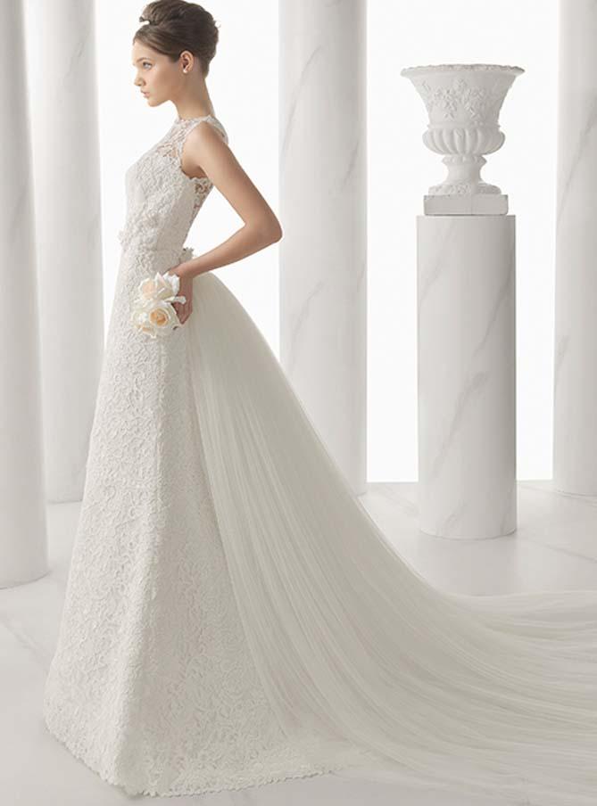 Modelo Nur Alma Novia, vestido de novia en guipur, Balart Núvies Wedding Center, vestido en guipur