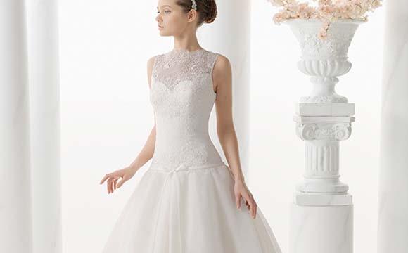 El corte princesa en los vestidos de novia de Alma Novia