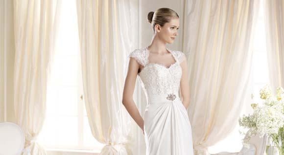 Modelo Ibbes la Sposa, vestido de novia con encaje, Balart Núvies Wedding center