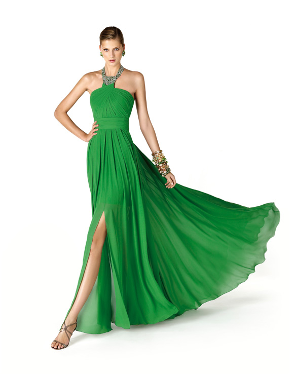 vestido de fiesta Pronovias, vestido de fiesta It's My Party, vestido para madrina en verde, It's My Party de Pronovias
