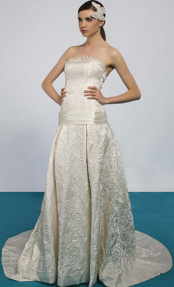 comprar vestido de Ruben Perlotti, comprar vestido de novia Barcelona, Eufeme de Ruben Perlotti, vestido de novia palabra de honor