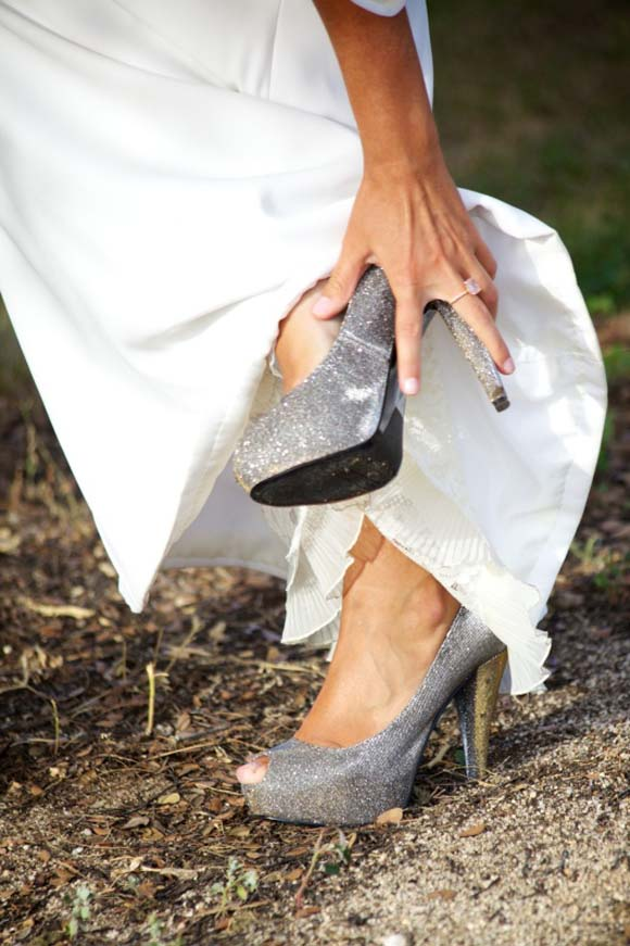 zapatos plateados para novia, zapatos para novia, zapatos originales para novia, zapatos de novia