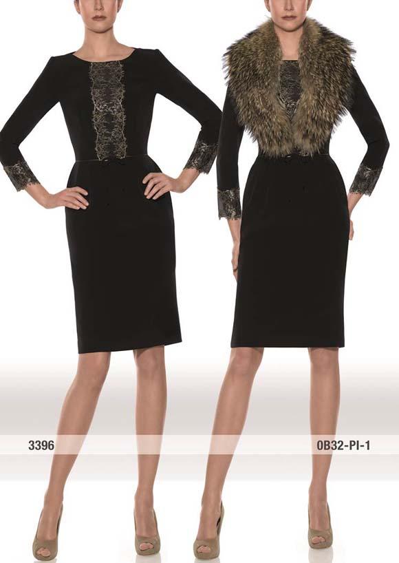 model 3396 Teresa Ripoll, vestidos de madrina Teresa Ripoll, vestidos de madrina invierno, estolas de piel, Balart Núvies Wedding center